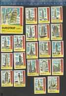 EUROTRIP SERIE 1 & 2 TORENS EN GEBOUWEN - 1960-1961 Dutch Matchbox Labels The Netherlands - Boites D'allumettes - Etiquettes