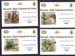 Cactus - Hynes - Serpents - Varan - Chien  - Burundi - COB 2044 / 7 ** - NON Dentelé En Petite Feuille - Valeur 36 €  ++ - Sukkulenten
