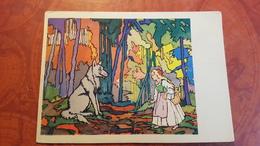 Wolf -  LITTLE RED RIDING HOOD And Others - Old USSR Postcard - 1959 Rare!  Le Petit Chaperon Rouge - Vertellingen, Fabels & Legenden