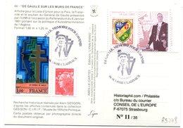 Thème Général De Gaulle - BT Scorbe Claivaux Sur CP Murs De France - Avec Porte Timbres - R 5778 - De Gaulle (Generaal)