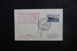 FRANCE - Carte Postale Du Voyage Inaugural Du Paquebot France En 1962 Pour Jersey City - L 49273 - Correo Marítimo