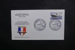FRANCE - Enveloppe Du Voyage Inaugural Du Paquebot France En 1962 - L 49274 - Correo Marítimo