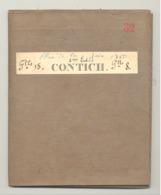 Carte De Géographie Toilée - KONTICH / CONTICH 1880 - Levée Et Nivelée 1863, Revue En 1879 (b271) - Geographical Maps