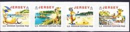 Jersey 1999 Yvertn° 918A-918D *** MNH Cote 18 € Tourisme Avec Lillie La Vache Millésime 1999 - Jersey