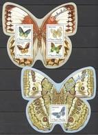 ST1549 2014 S.TOME E PRINCIPE FAUNA BUTTERFLIES BORBOLETAS 1BL+1KB MNH - Butterflies