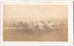 PARAY LE MONIAL 1859 VUE GENERALE  - Photo Cdv MILLOT - AUXONNE Près Du Château Derrière L Hôpital - Anciennes (Av. 1900)