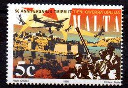 """(WK-Alb1) Malta Mi 956 """"50. Jahrestag Der Bendigung Des Zweiten Weltkrieges""""  ** Postfrisch - Sovrano Militare Ordine Di Malta"""
