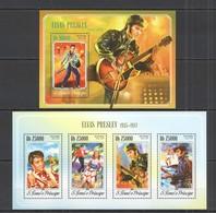 ST1632 2014 S. TOME E PRINCIPE MUSIC FAMOUS PEOPLE ELVIS PRESLEY KB+BL MNH - Elvis Presley