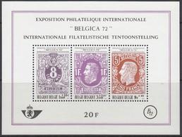 BELGIEN Block 42, Postfrisch **, Internationale Briefmarkenausstellung BELGICA '72, Brüssel, 1970 - Blocks & Kleinbögen 1962-....