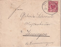 ALLEMAGNE 1898 LETTRE AVEC CACHET FERROVIAIRE/ZUGSTEMPEL RIEGEL-GOTTENHEIM - Alemania