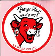 Sticker - Franse Kaas Hier Vers Van LA VACHE QUI RIT - Autocollants
