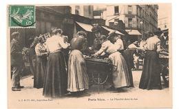 Paris Vécu - Marché Dans La Rue -  CPA ° - Petits Métiers à Paris