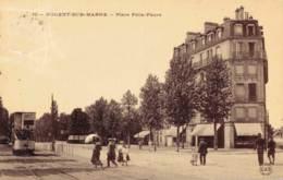 94 NOGENT SUR MARNE PLACE FELIX FAURE CIRCULEE 1909 - Nogent Sur Marne
