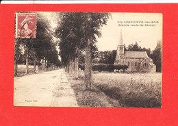 91 SAINTE GENIEVRE DES BOIS Cpa Grande Route De Corbeil     Edit Vayer - Sainte Genevieve Des Bois