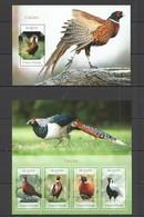 ST1676 2014 S. TOME E PRINCIPE FAUNA BIRDS FAISOES KB+BL MNH - Gallinaceans & Pheasants