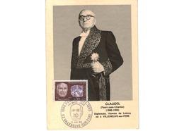 Carte 1er Jour  / Claudel  / Villeneuve Sur Fere   / 6-7-68 - 1960-69
