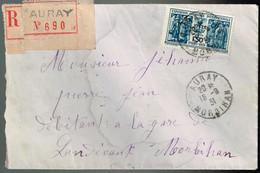 274 Exposition Coloniale De 1931  Lettre Recommandée Au Départ D'Auray Le 10/09/1931 - Postmark Collection (Covers)