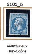 France : Petit Chiffre N° 2101 : Monthureux  ( Saône ) Indice 5 - Marcophilie (Timbres Détachés)