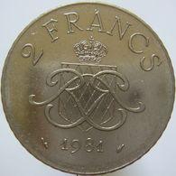 LaZooRo: Monaco 2 Francs 1981 XF / UNC  Scarce - Monaco