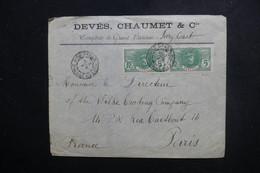 SÉNÉGAL - Enveloppe Commerciale De Grand Bassam Pour Paris , Affranchissement Plaisant - L 49290 - Sénégal (1887-1944)