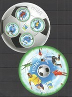 ST1293 2013 GUINE GUINEA-BISSAU SPORT FOOTBALL FUTEBAL MESSI RONALDO KB+BL MNH - 2014 – Brasilien