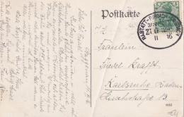 ALLEMAGNE 1916 CARTE POSTALE DE GAGGENAU AVEC CACHET FERROVIAIRE/ZUGSTEMPEL RASTATT-FORBACH- ?? - Alemania