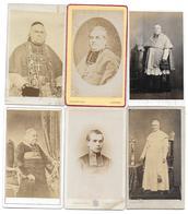 PAPE ABBE EVEQUE PRETRE RELIGIEUX - LOT DE 6 CDV PHOTOS PETIT ROBARDET TERUEL - Anciennes (Av. 1900)