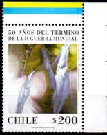 """(WK-Alb1) Chile Mi 1691 """"50. Jahrestag Der Bendigung Des Zweiten Weltkrieges""""  ** Postfrisch - Chile"""