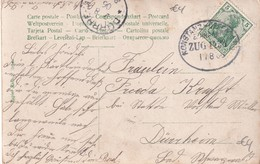 ALLEMAGNE   1906  CARTE POSTALE  AVEC CACHET FERROVIAIRE/ZUGSTEMPEL KONSTANZ-OFFENBURG - Alemania