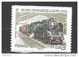 "FR Adhesif YT 711 (4655) "" Train "" 2012 Neuf - Adhesive Stamps"