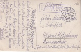 ALLEMAGNE   1915 CARTE POSTALE EN FELDPOST CENSUREE DE WESEL - Alemania