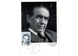 Carte 1er Jour  / Edmond Michelet  / Paris - Brive La Gaillarde / 22-2-75 - Maximumkarten