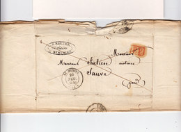 Sur LAC Pour Sauve Gard CAD Type 14 St Mihiel Meuse 1840. Cachet Rouge PP. (2642x) - Postmark Collection (Covers)