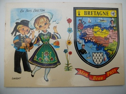 CPA Avec Blason BRETAGNE - Bretagne