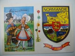 CPA Avec Blason NORMANDIE - Haute-Normandie