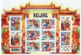RC 12039 FRANCE BF N° 122 JEUX OLYMPIQUES A PEKIN CHINE BLOC FEUILLET NEUF ** A LA FACIALE - Blocs & Feuillets