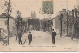95 MERY-sur-OISE  Le Pont . La Rue De Paris - Mery Sur Oise