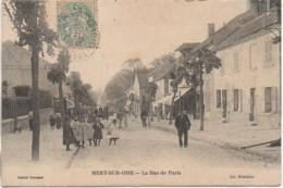 95 MERY-sur-OISE La Rue De Paris  (très Animée) - Mery Sur Oise