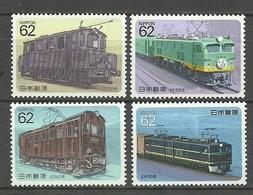 JAPON 1990. Trenes Electricos ** MNH - Neufs