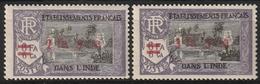 INDE FRANCAISEN° 196 Et 197 Neufs Charnières Propres - Unused Stamps