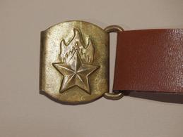 Pioneer Belt - 1980 Russia USSR Soviet Union - Original - Five-pointed Star Buckle - Scout Pfadfinder Gürtel Ceinture - Historische Bekleidung & Wäsche