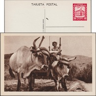 Venezuela 1963. Entier Illustré Officiel.  Charrette à Bœufs. Agriculteur Avec Bêtes à Cornes - Vaches