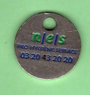 1 Jeton De Caddie *** N/E/S PRO HYGIENE SRVICE *** (0) - Einkaufswagen-Chips (EKW)