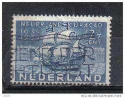 D - [TA059-11]TB//-PAYS BAS - YVERT N° 266 @OBL-USED@ Occupation De Curaa§ao, Bateau, Ship, Key Value, Oblitération Spéc - Used Stamps
