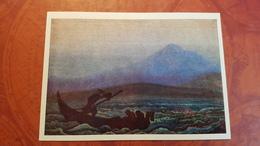 "Nicholas Roerich - ""Fugitives""   HIMALAYA - Old USSR PC 1980 Rare Edition - Tibet"