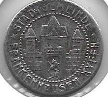 *notgeld Frankenhausen 5 Pfennig ND  Fe   133.4a - [ 2] 1871-1918 : Imperio Alemán