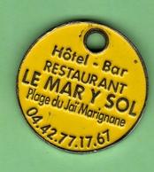 1 Jeton De Caddie *** MARIGNANE - LE MARY SOL *** (0) - Moneda Carro