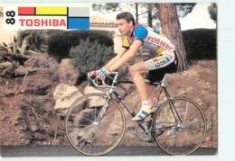 Fabrice PHILIPOT . 2 Scans. Toshiba 1988 - Wielrennen