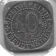 *notgeld Freudenstadt 10 Pfennig  1919 Fe   138.9a - [ 2] 1871-1918 : Imperio Alemán