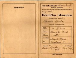 "School ,, Katarina Zrinski"" - School Report 1940/41 - Croatia - Slavonski Brod - - Diplome Und Schulzeugnisse"